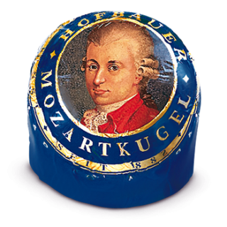 Mozartkugel Blau